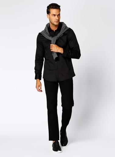 Cotton Bar Klasik Gömlek Siyah